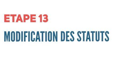 Etape 13 – La modification des statuts